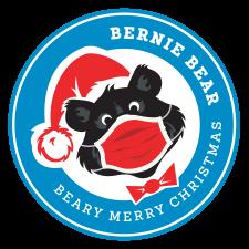2020 Beary Merry Christmas Logo w Mask transparent bg