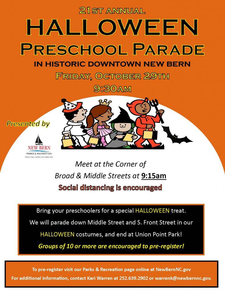 2021 Halloween Preschool Parade